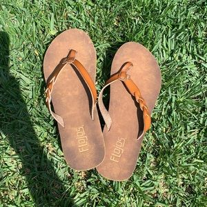 NWOT brown sandals